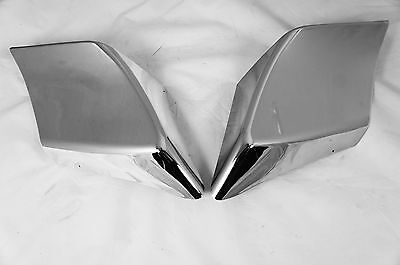 Mutazu Custom Chrome Stretched Side Covers Fits Harley Touring Road Glide Street