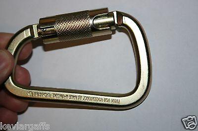 CARABINER STEEL Twist Lock 50KN or 11200Lb Auto Locking - HIGH STRENGTH GATE