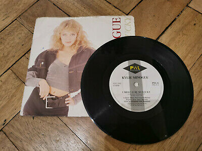 "kylie minogue i should be so lucky 7"" vinyl record good"
