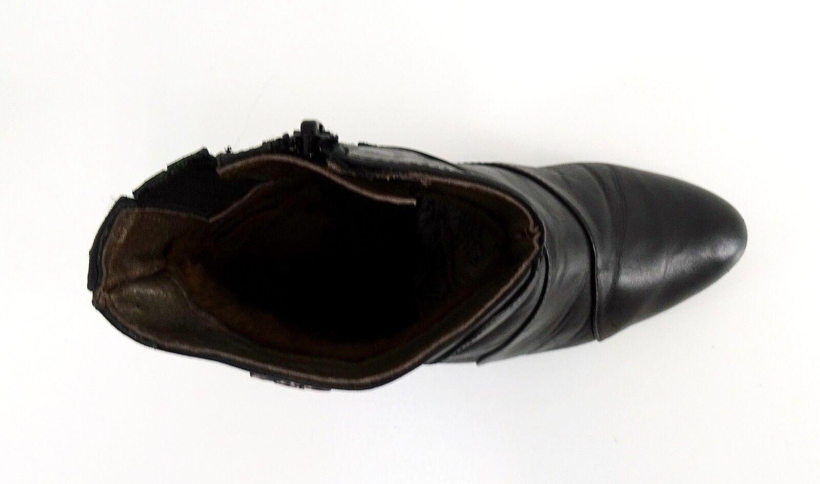 Stiefeletten Maloix Reißverschluss schmaler schmaler schmaler Blockabsatz Echtleder black Gr. 38 29ead4