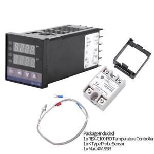 1x-0-1300-alarme-REX-C100-DEL-Numerique-PID-Controleur-De-Temperature-Kits-AC110-240V