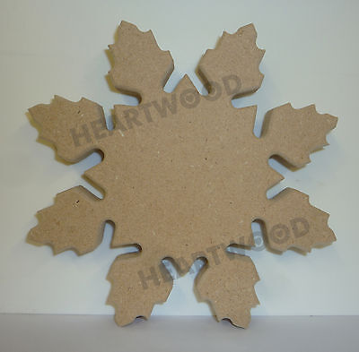 Snowflake shape in MDF -160mm x 18mm/Christmas