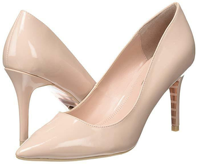 DUNE SIZE 6 39 AURRORA NUDE PATENT MID HIGH HEEL COURT SHOES BNWB