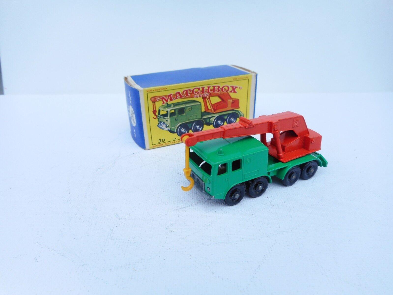 mejor moda Matchbox Series  30 8-WHEEL CRANE w Original Original Original Box Vintage Lesney Juguete  descuento