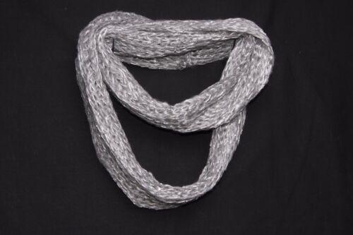 S186 Gris Argent 7 Classique Ample Tricot W//Paillettes Infinity forme foulard