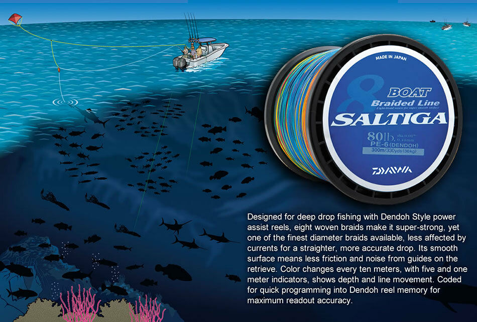 Daiwa Saltiga Dendoh Style Boat Braided Line 150lb 500m FREE SHIPPING IN US