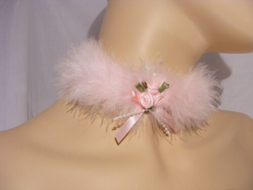 SISSY ADULT BABY KITTEN PINK CHOKER COLLAR OPT BELL LOLITA FANCYDRESS COSPLAY