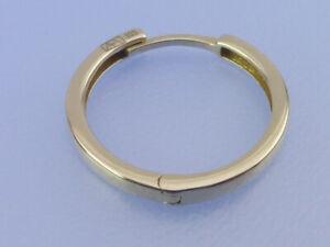 HERREN OHRRING Männer Creole 8 Kt Gold 333   4 mm Breite 14 mm Durchmesser NEU