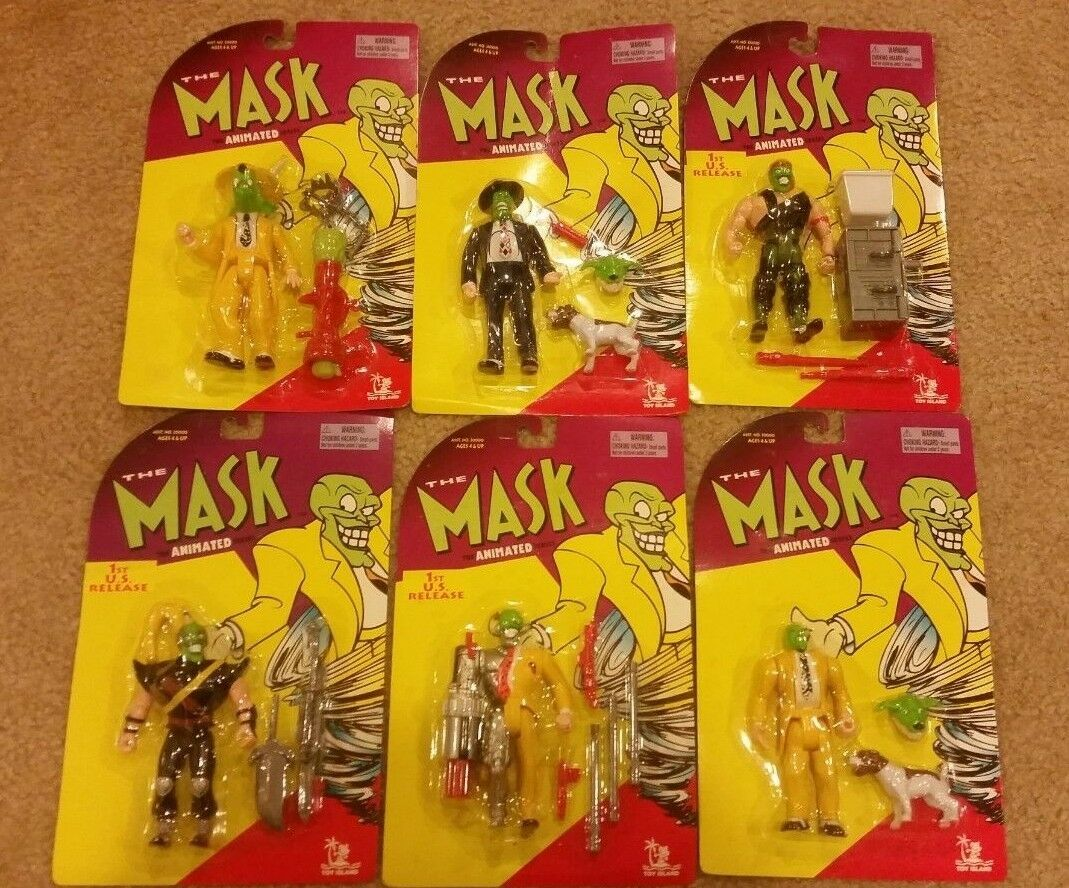 Toy Island The Mask Animated Series Complete Set 6 Action Figures MOC