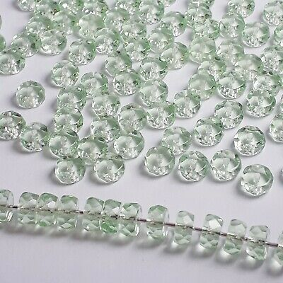 20pcs Dark Amber Czech Glass Rondelle Beads 3x6mm GB414