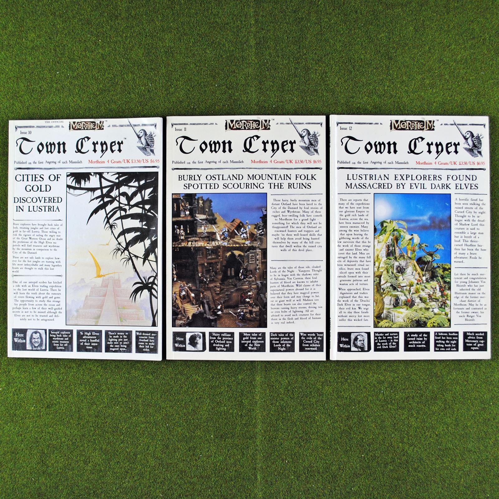 Mordheim stadt cryer magazine (fragen 10 11 12) - games workshop zitadelle thema
