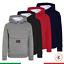 Felpa-con-Cappuccio-Uomo-Maglia-Sportiva-Grigia-Nera-Tinta-Unita-Tascone-Casual miniatura 1