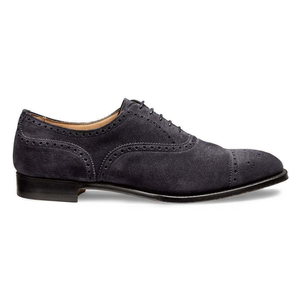 Men's Dark Grey Suede Brogue shoes,Classic Toe Cap Oxford Brogue Wingtip shoes