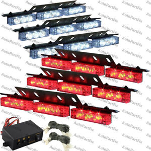 54 led red white emergency warning strobe hazard lights bars deck image is loading 54 led red white emergency warning strobe hazard aloadofball Choice Image