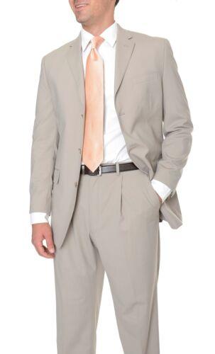 $275 Sean John Wool Blend Taupe Tan Light Brown Mens 3 Button Blazer Sportcoat