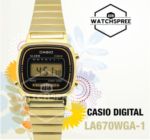 1 of 1 - Casio Digital Watch LA670WGA-1D