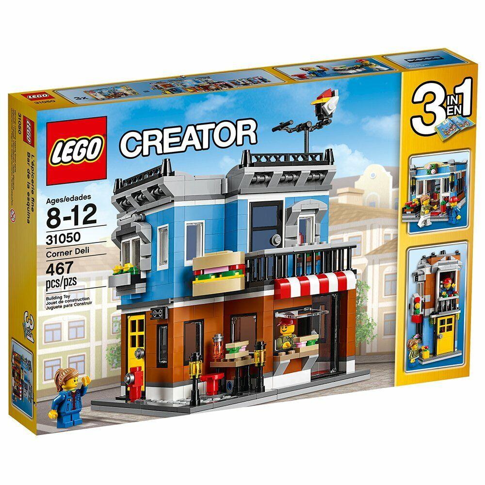 ampia selezione Lego città Town Creator 31050 CORNER DELI Townhouse Townhouse Townhouse Flower negozio nuovo  prima i clienti