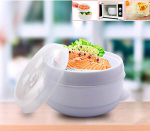 Olla para microondas cocedor al vapor cocinar a presion micro ondas cocina vap ebay - Cocina al vapor microondas ...