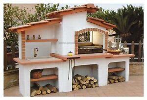 barbecue in muratura a legna con acquaio esterno | eBay