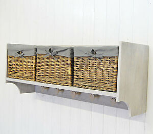Wall-Shelf-Storage-Unit-With-Lined-Willow-Basket-Storage-amp-Coat-Hooks-Pegs