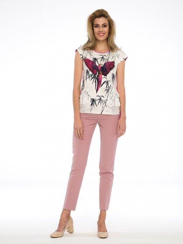 Blause Shirt Top Tunika Elegant Trend Stretch Topdesign Mehrfarbig  Gr. 44