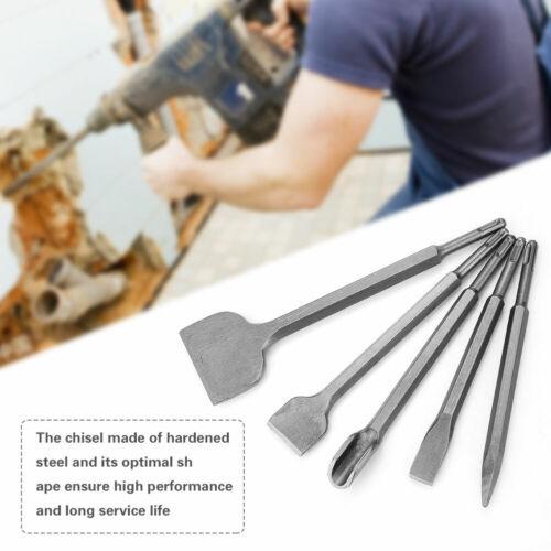 Plus Bit Bits Chisel Set Concrete Fits Hilti USA 5pcs Rotary Hammer Drill SDS