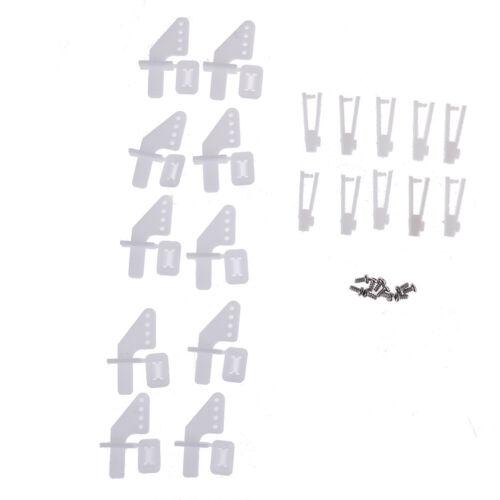 10 Sätze mittlerer Verschluss auf Nylon-Ruderhorn und Gabelkopf mit 21-mm-RDBSD