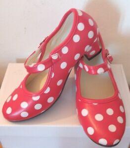 Dancing Shows etc New Girls//Ladies Red//Black Spanish Flamenco Dance Shoes