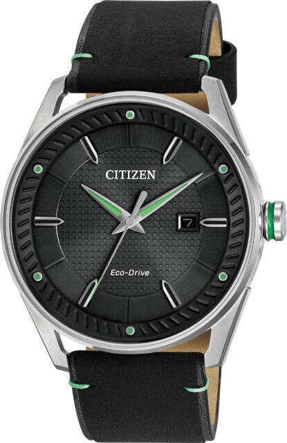 Citizen BM6980-08E Men's Drive Collection CTO Leather Band Black Dial Watch