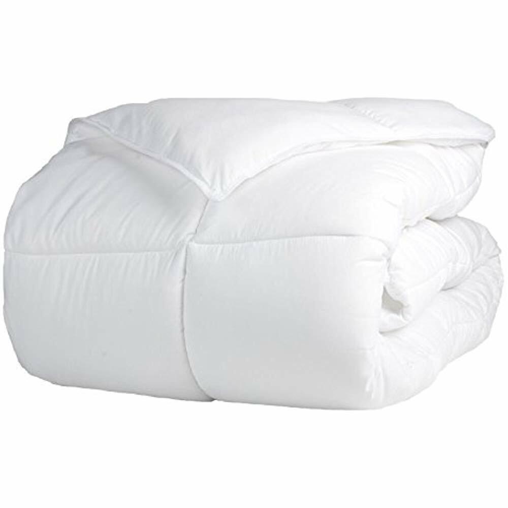 SALE Solid White Down Alternative Comforter, Duvet Insert, Medium Weight All -