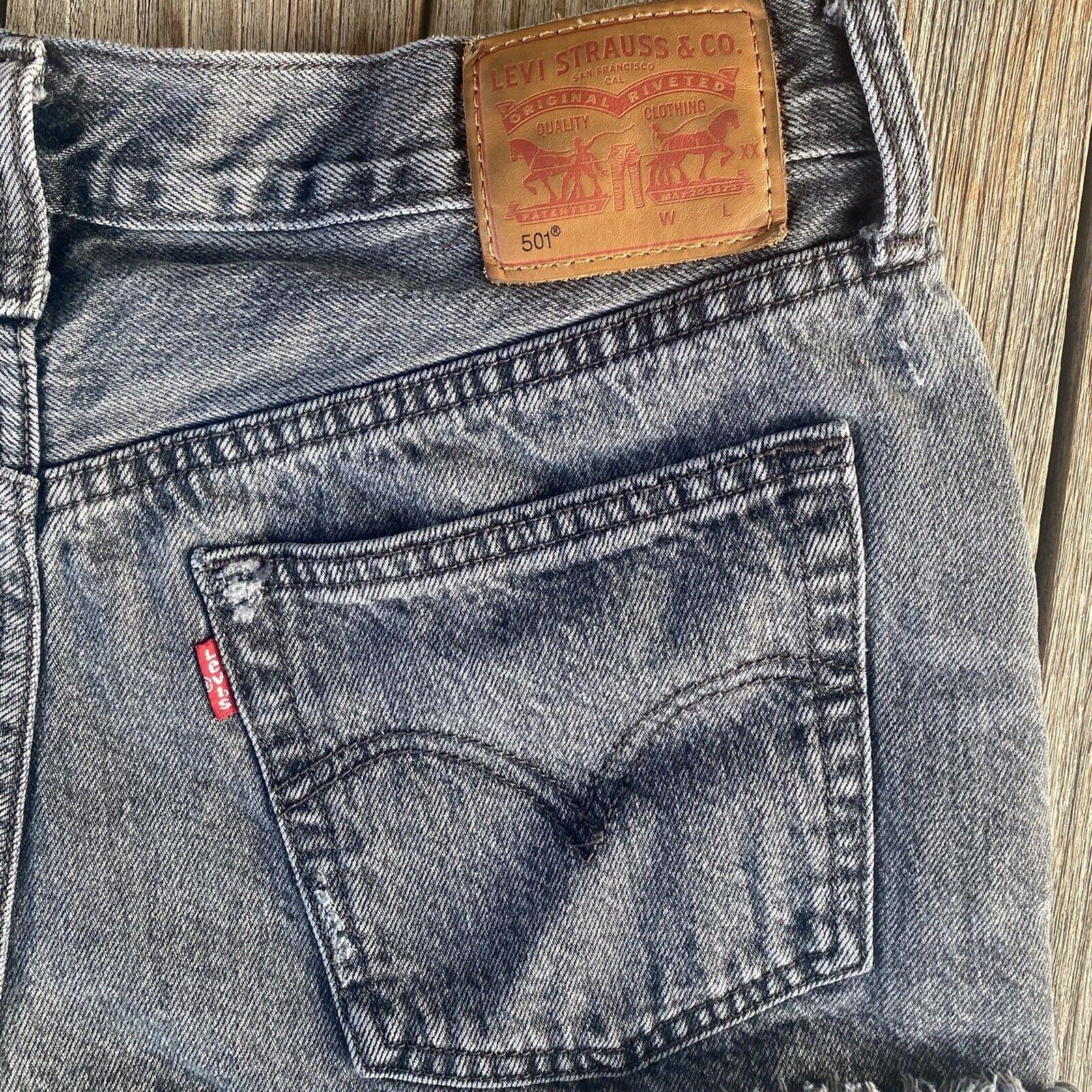 Vintage 90's Levi's 501 Distressed Denim Shorts S… - image 5