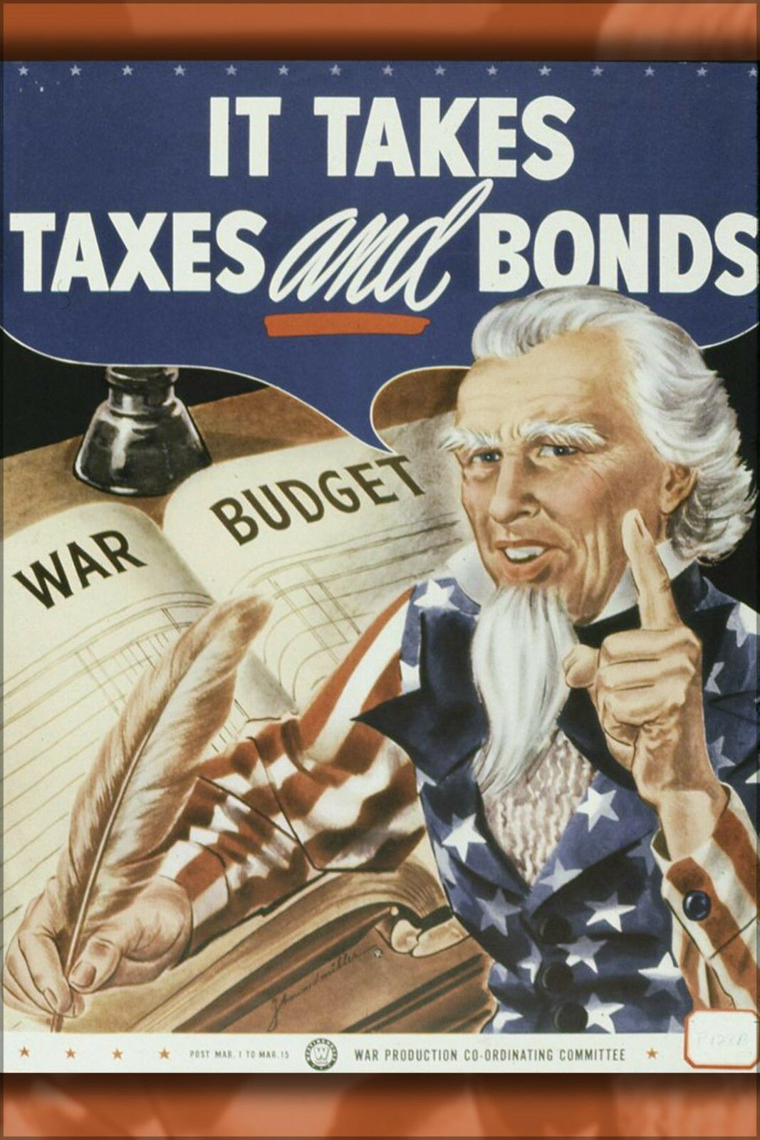 Poster, Many Größes; It Takes Taxes And Bonds, Uncle Sam Propaganda 1942