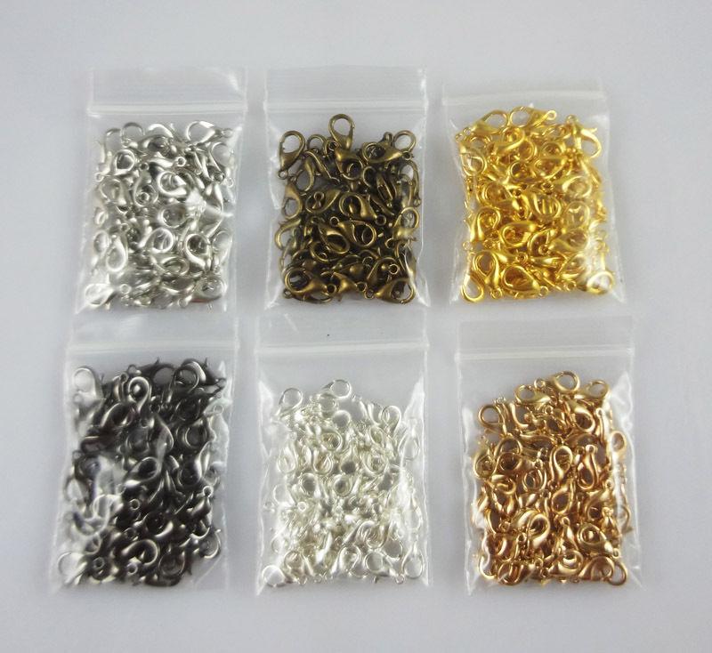 机器爪钩简笔画- Clasp Claw For Diy necklace bracelets-热20个人电脑 银镀金龙虾爪