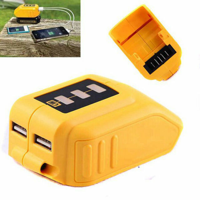 USB Converter Charger For DEWALT 14.4V 18V 20V Li-ion Battery Converter DCB0 B12