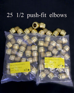25-piece-Lot-of-Sharkbite-Style-1-2-inch-Push-Fit-Elbow
