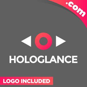 HoloGlance-com-is-a-cool-brandable-domain-for-sale-Godaddy-AI-AR-Premium