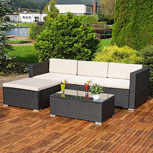 image is loading rattan garden furniture set corner sofa lounger table