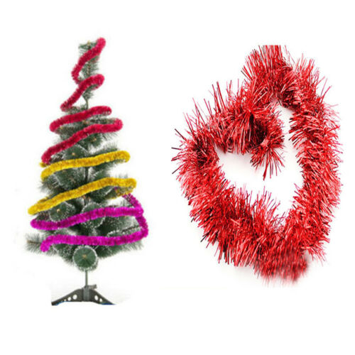 2M Christmas Xmas Tree Ornaments Tinsel Garland Hanging String Party Decorations