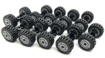 car truck lot vehicle white 20 tires//10 axles 10 SETS of LEGO WHEELS