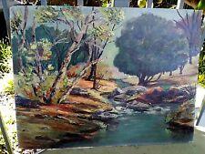 Oil Painting Vintage landscape San Diego California Jacumba Hattie  Holcomb