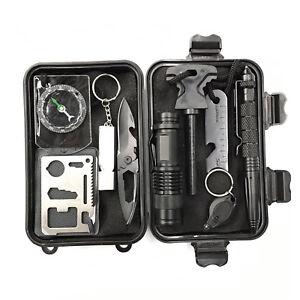 9-in-1-SOS-Outdoor-Kit-Emergency-Equipment-Box-Camping-Survival-Gear-Kit-UK