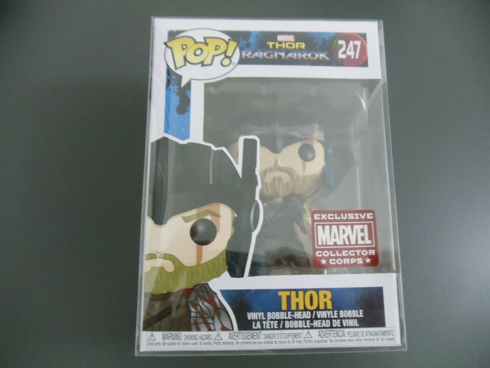 FUNKO POP THOR 247 Thor Ragnarok Marvel Collector Corp Exclusive