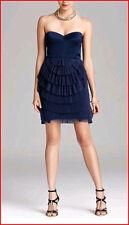 BCBG SAS CARBON PLEATED RUFFLED TULLE STRAPLESS DRESS size 4 NWT $338-RackA/95