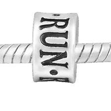 """Run Charm"" Bead Charm for Snake Chain Charm Bracelet or any Add on Bracelet"