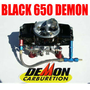 8 AN Made in the USA Barry Grant Demon Carb Braided Dual Fuel Line