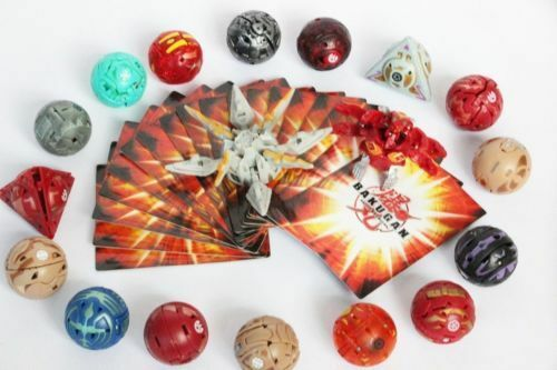 Hot 18 various Bakugan Battle Brawlers with Metal Card Toy All Different in case