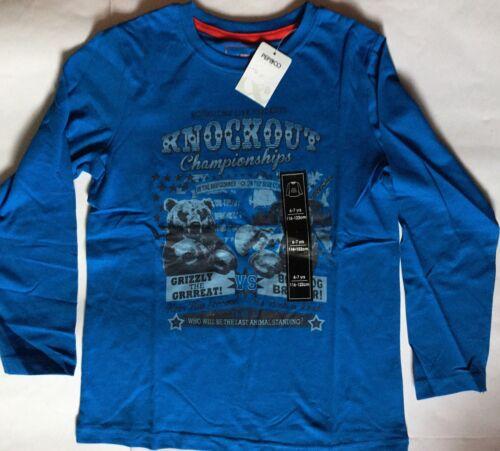 Ragazzi Blu T-shirt a maniche lunghe con dettaglio Knockout CHAMPIONS
