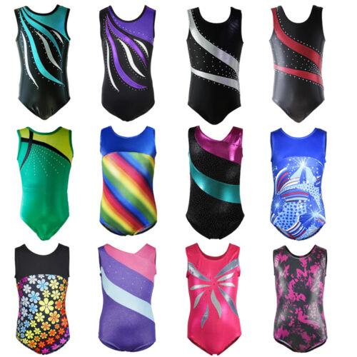Hot Sale Girl Fitness Kids 4-14Y Leotards Sport Dance Ballet Gymnastics Unitards