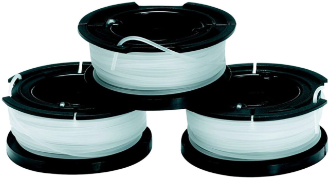 Black & Decker A6485 Replacement Spool and Line String Strimmer, Pack of 3