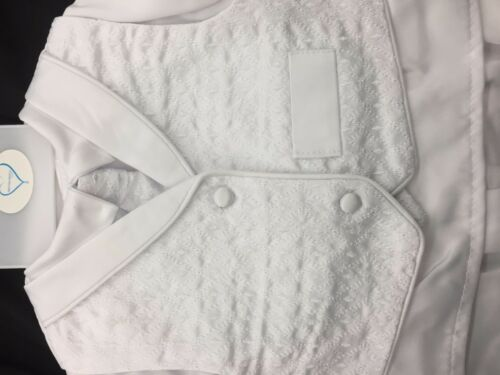 Baby Boy Christening Baptism white Outfit//Pants//Vest//Cross//4 pieces Outfit//XS-XL